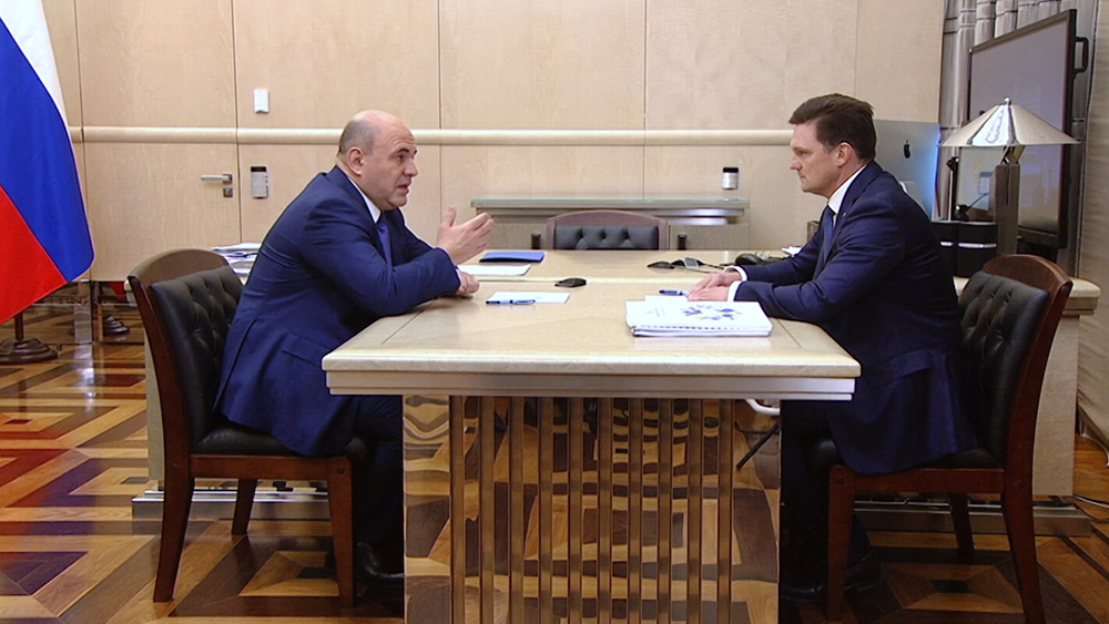 Михаил Мишустин и Николай Подгузов