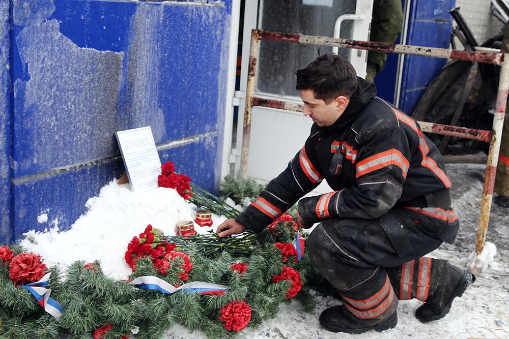 Траур по погибшим в Красноярске