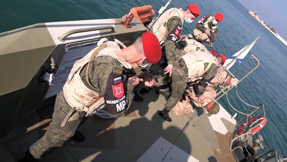 Военная полиция России (MP) в Сирии проводит учения