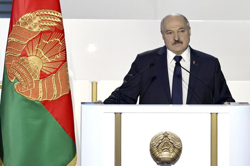 Александр Лукашенко во время выступления на VI Всебелорусском народном собрании