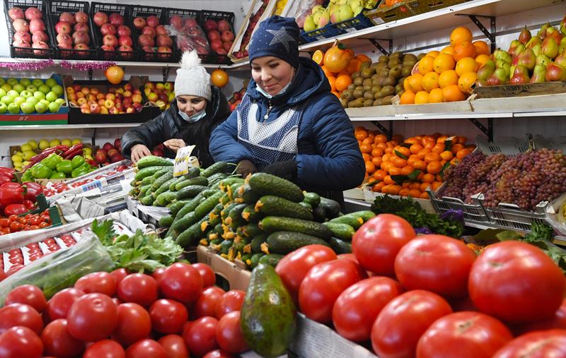 Продажа овощей и фруктов