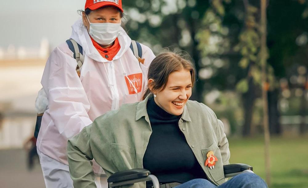 Волонтеры и инвалиды