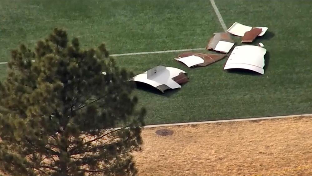 Упавшие обломки самолета