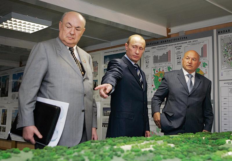 Владимир Ресин, Владимир Путин и Юрий Лужков