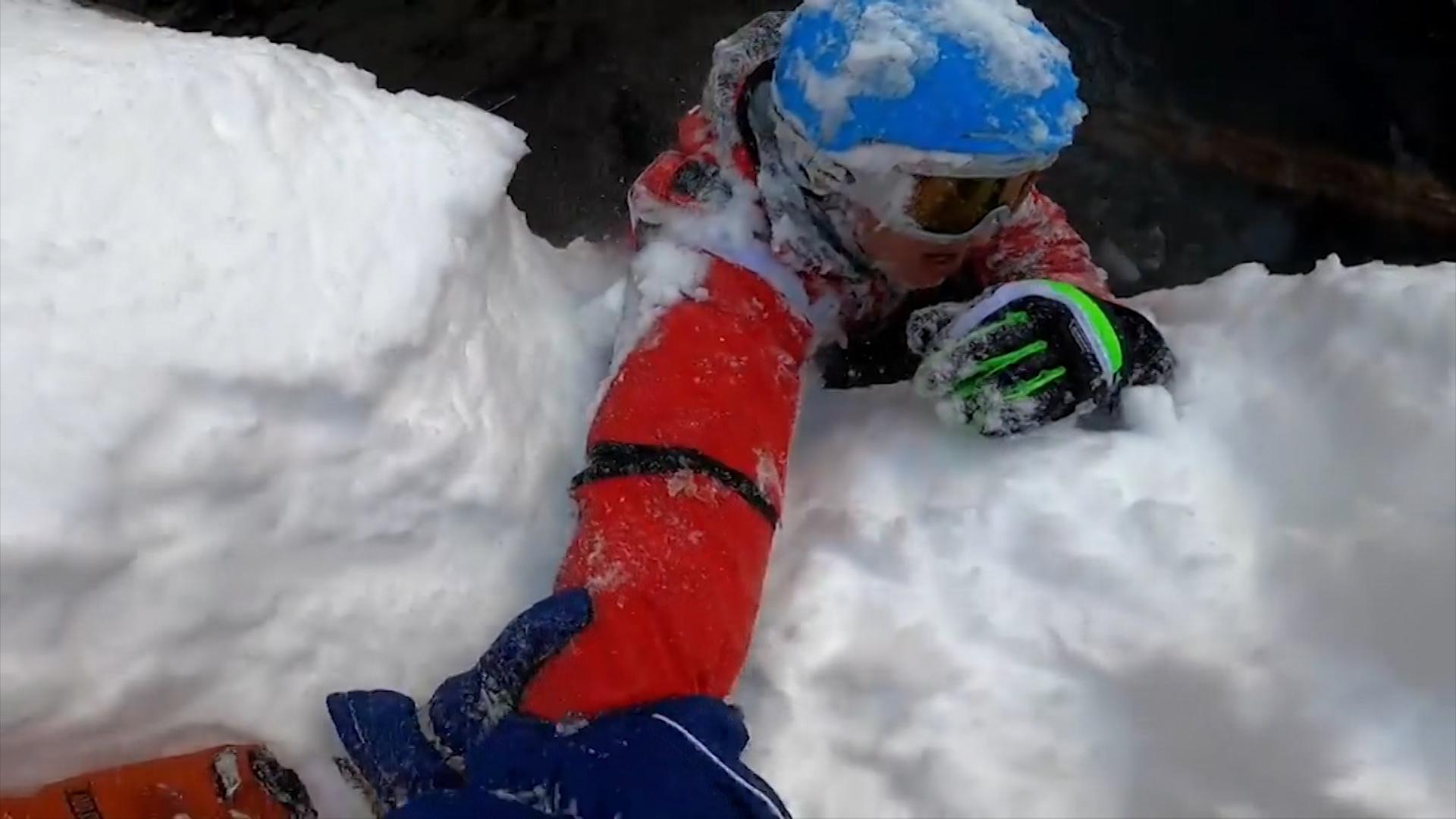 Падение лыжника