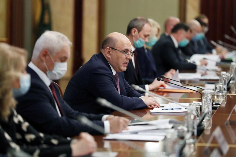 Премьер-министр Михаил Мишустин встретился с руководством Совета Федерации России