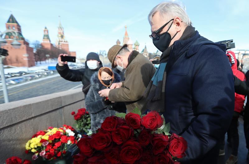 Мероприятия, посвященные памяти политика Бориса Немцова, в Москве