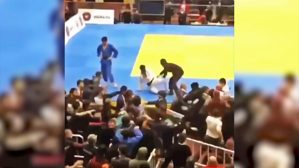 Драка на соревнованиях по дзюдо в Дагестане