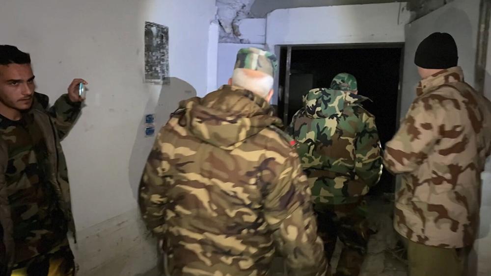 Подпольный госпиталь боевиков в Сирии