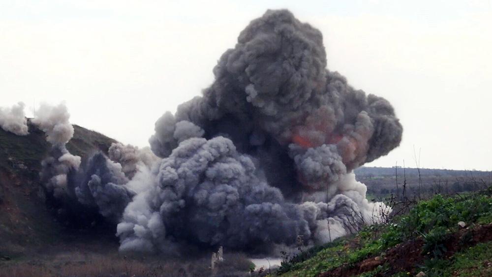 Уничтожение подпольного госпиталя боевиков в Сирии