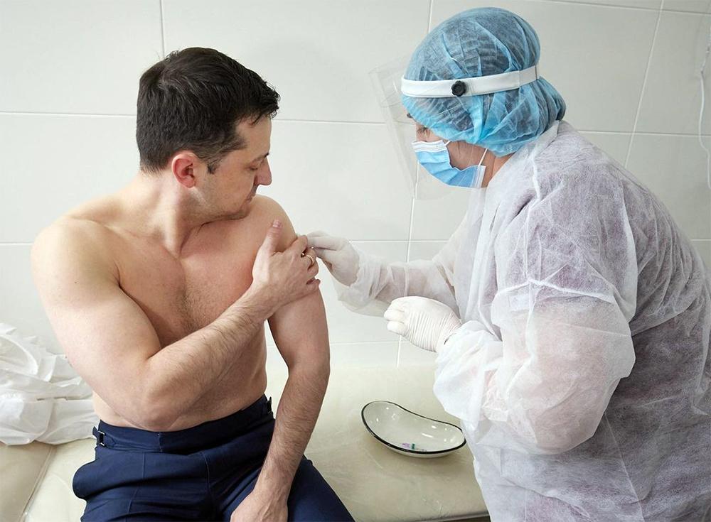 Владимир Зеленский проходит вакцинацию