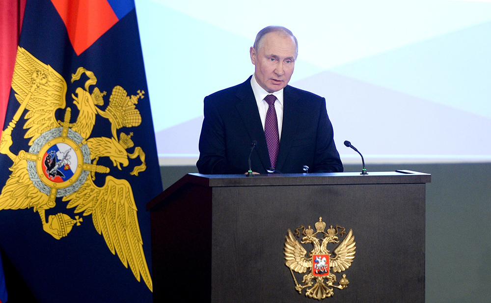 Владимир Путин на заседании коллегии МВД