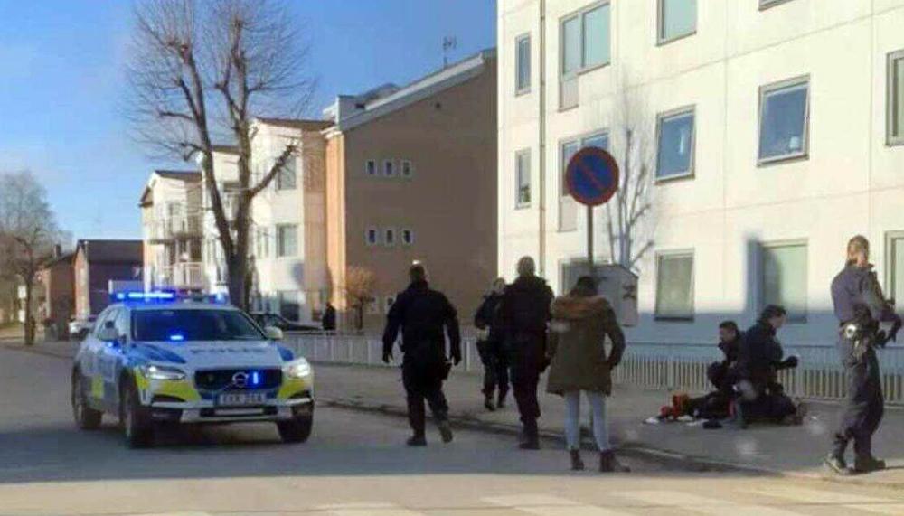 Полиция Швеции задерживает преступника