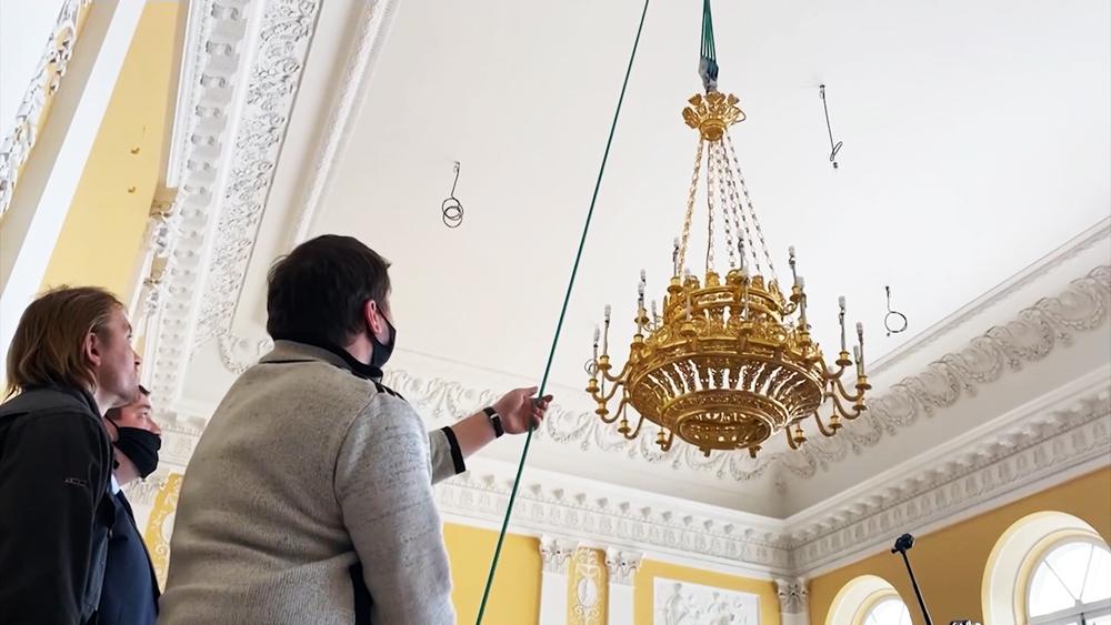 Реставрация дворца Монплезир в Петергофе