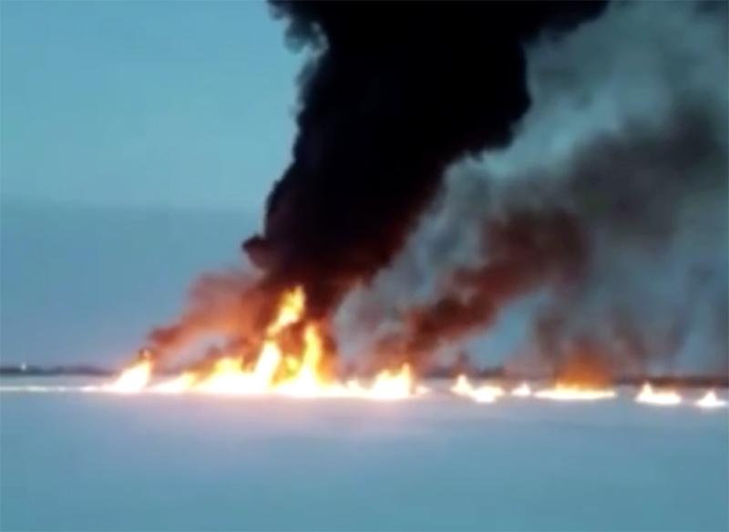 Возгорание на нефтепроводе под Нижневартовском