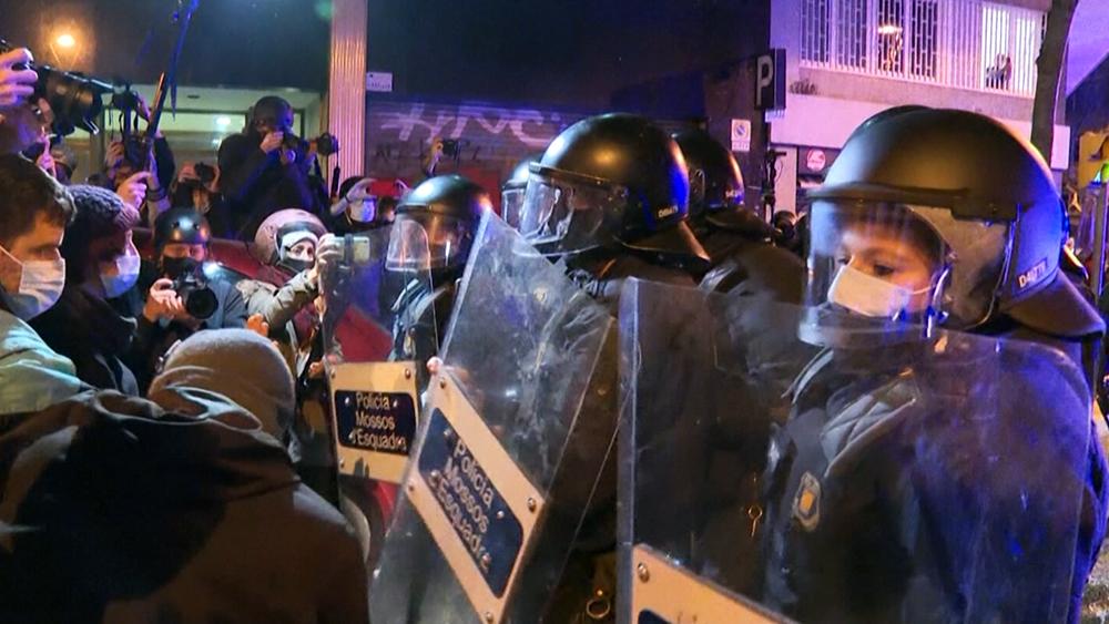 Уличные протесты в Испании