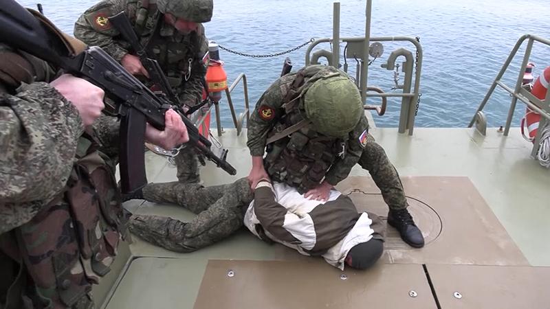Учебная атака боевиков в Тартусе