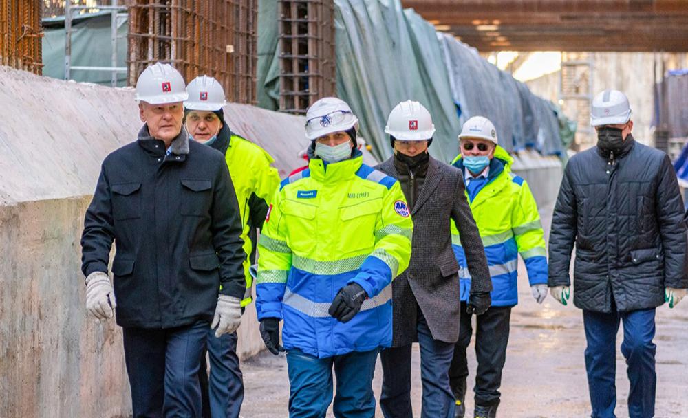 Сергей Собянин дал старт проходке двухпутного тоннеля на восточном участке БКЛ