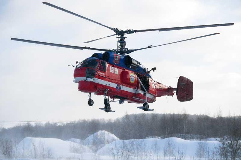 Вертолет Ка-32 Московского авиационного центра