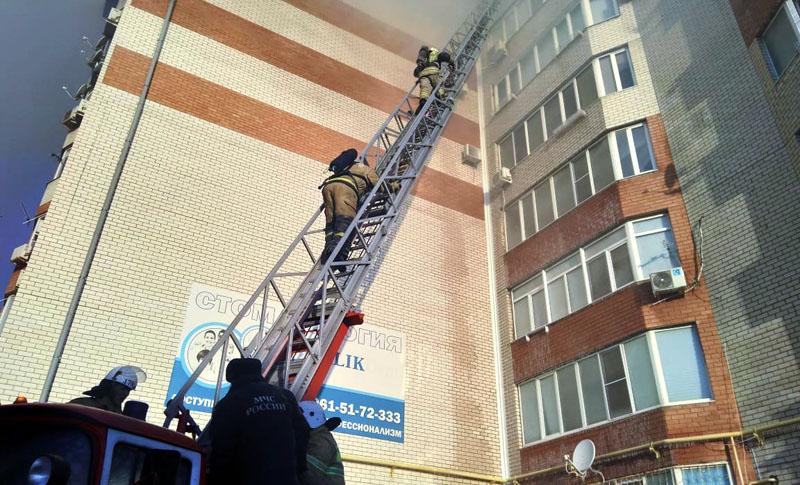 Пожар в многоэтажке в Анапе