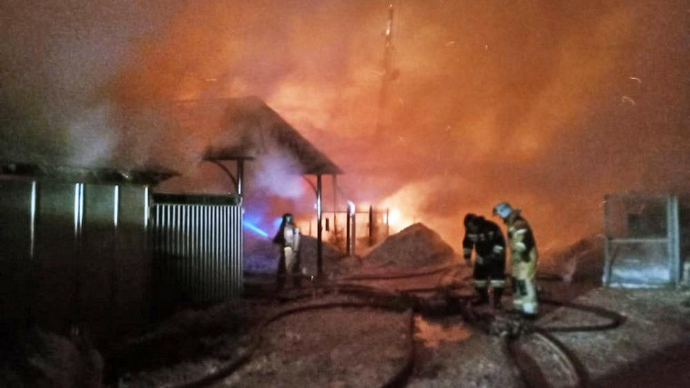 Пожар в Златоусте Челябинской области