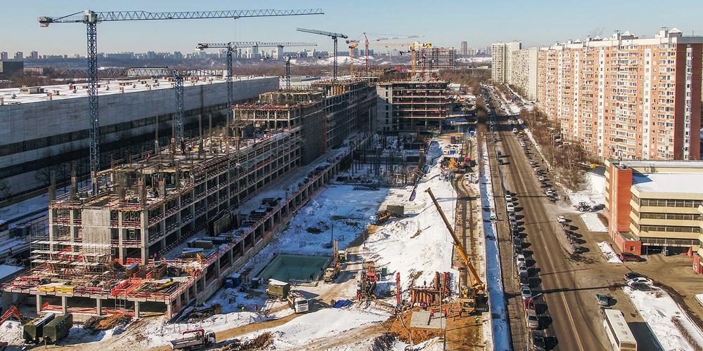 Сергей Собянин и Дмитрий Рогозин осмотрели ход строительства Национального космического центра