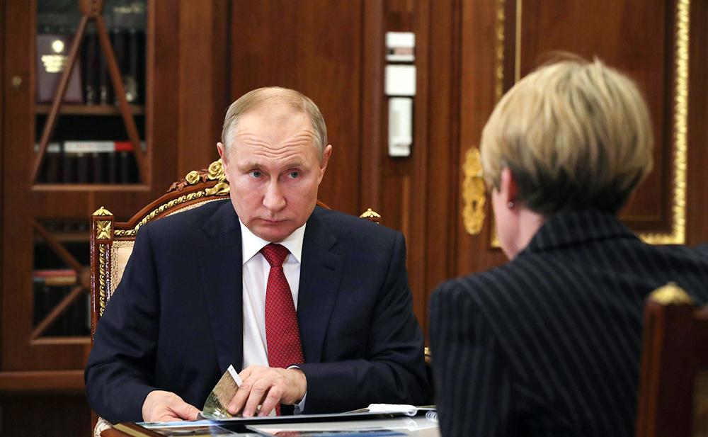Владимир Путин и Елена Шмелёва
