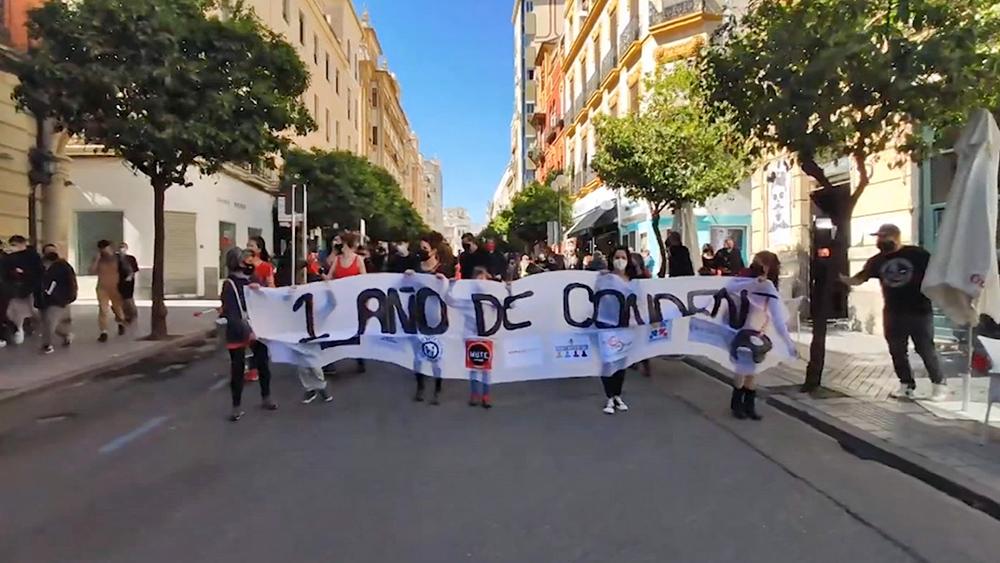 Митинг против коронавирусных ограничений в Испании