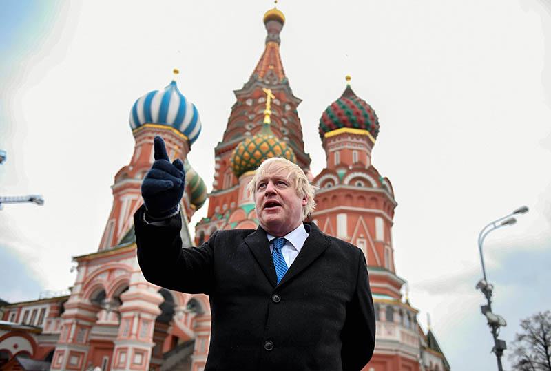 Борис Джонсон в Москве