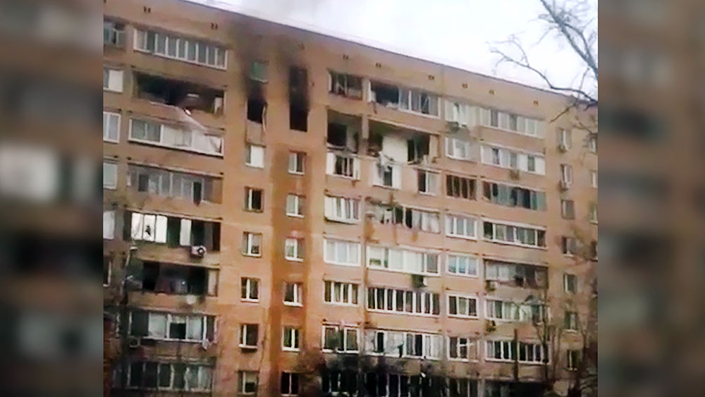 Последствия взрыва в жилом доме