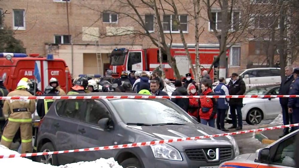 Последствия взрыва в жилом доме в Химках