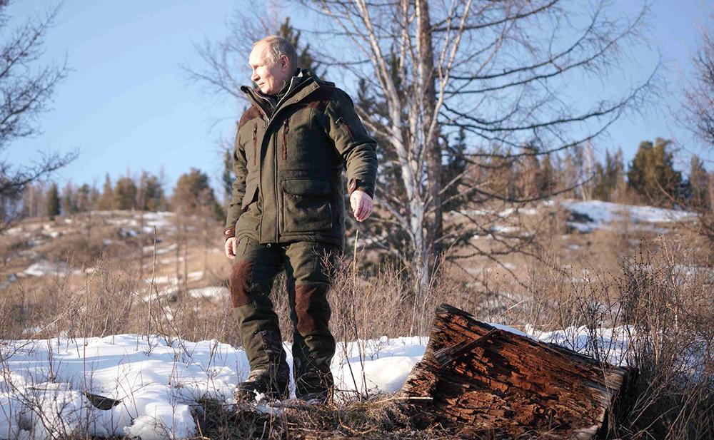 Владимир Путин во время отдыха в Сибири