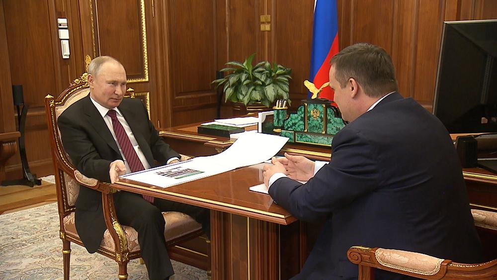 Владимир Путин и  Александр Никитин