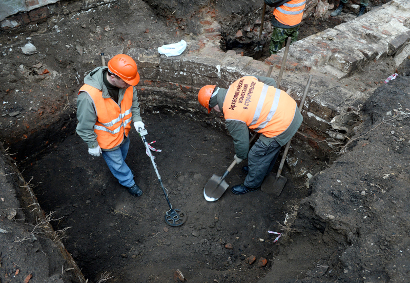 Во время археологических раскопок