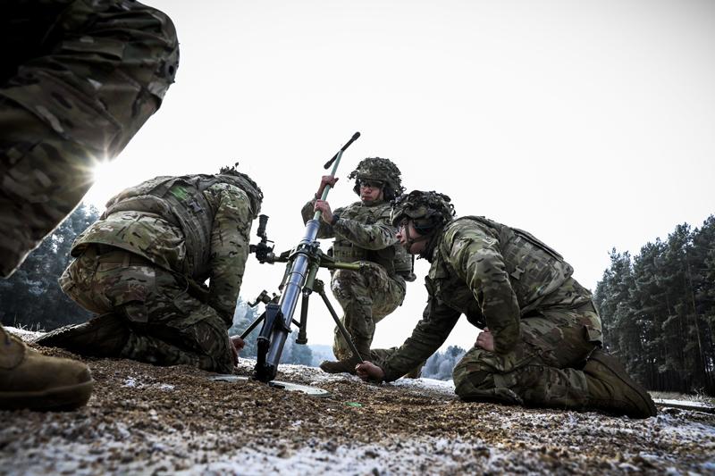 Солдаты США во время учений