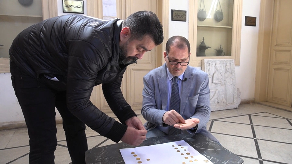 Коллекция древних монет в Сирии