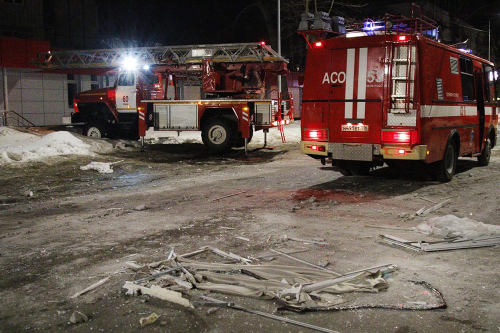 Последствия взрыва газа в жилом доме в Зеленодольске