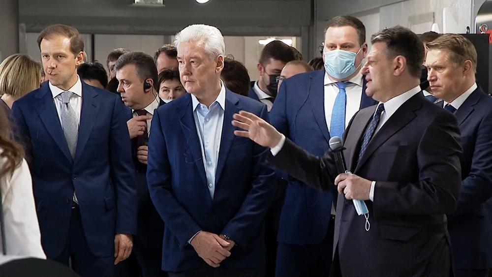 Сергей Собянин на открытии производства