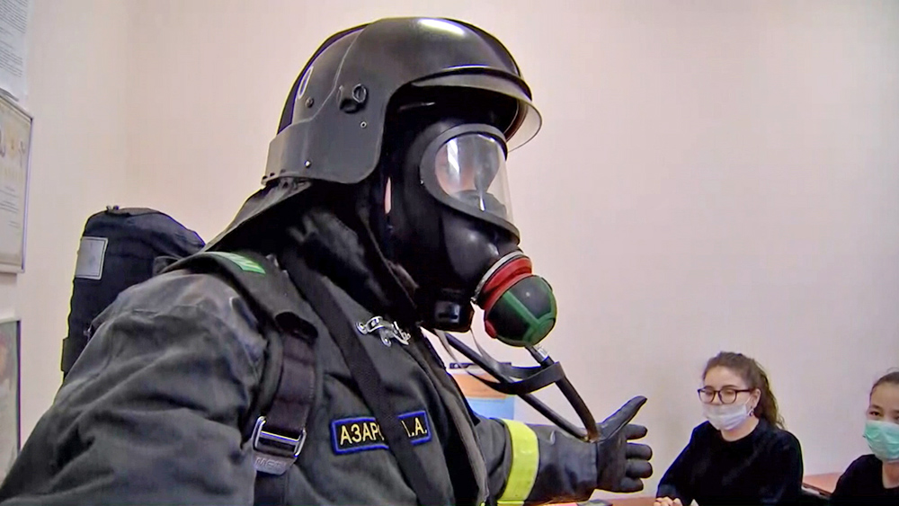 Пожарные проводят мастер-класс