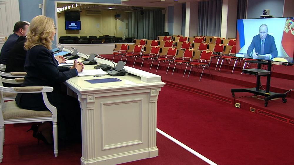 Члены Правительства на прямой связи с Владимиром Путиным