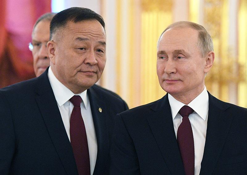 Владимир Путин и Дуламсурэн Даваа
