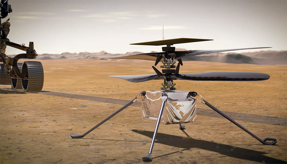 Марсианский коптер Ingenuity (3D графика)