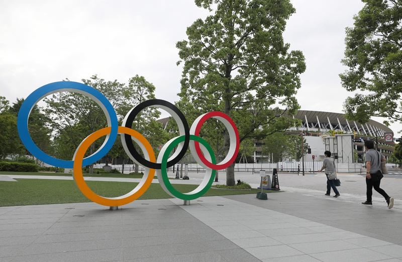 Олимпийские кольца в Пекине