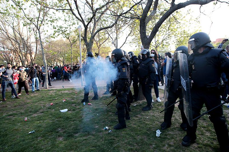 Протесты в Мадриде