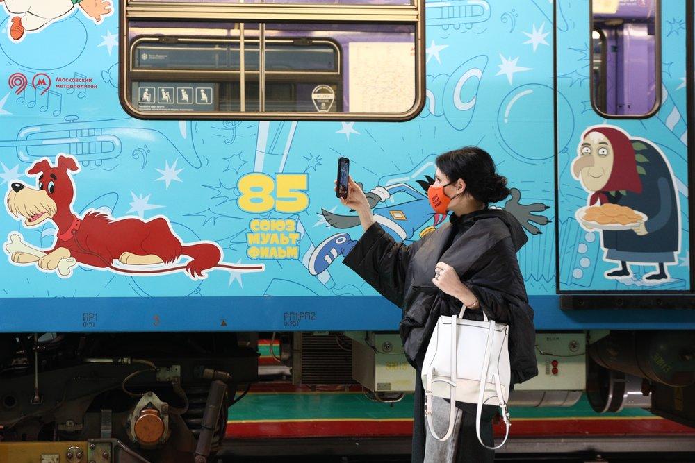 """Запуск тематического поезда, посвященного 85-летию киностудии """"Союзмультфильм"""""""