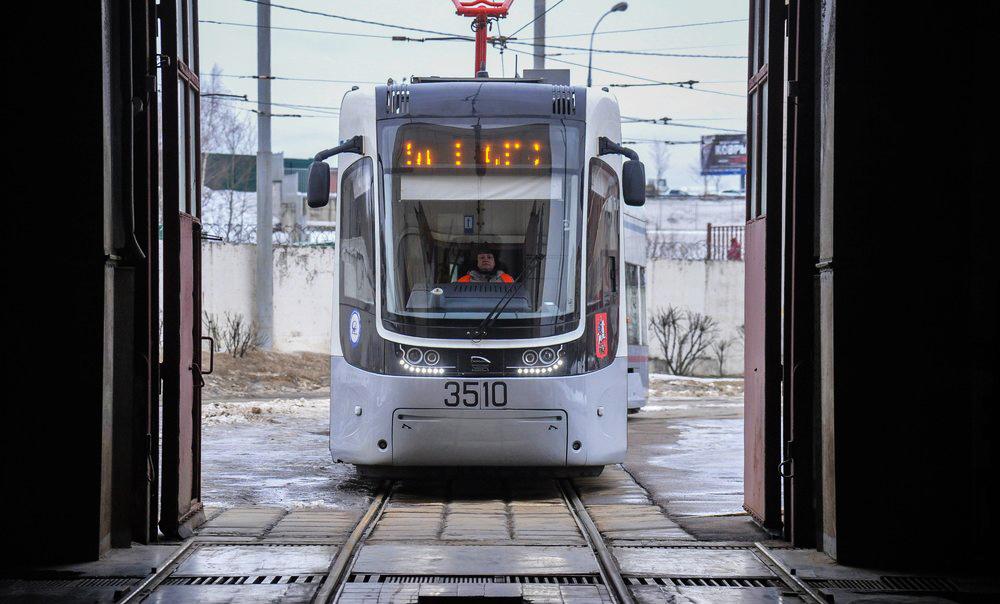 Работа трамвайного депо