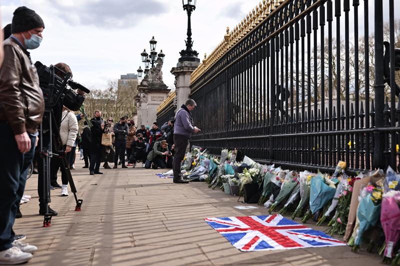 Траур в Британии после смерти принца Филиппа