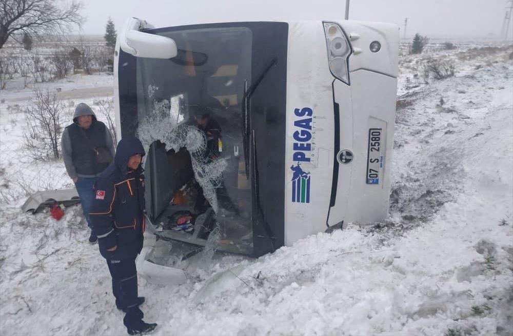 ДТП с участием автобуса с российскими туристами в Турции