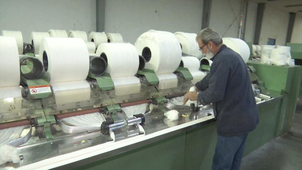 Фабрика ниток в Сирии