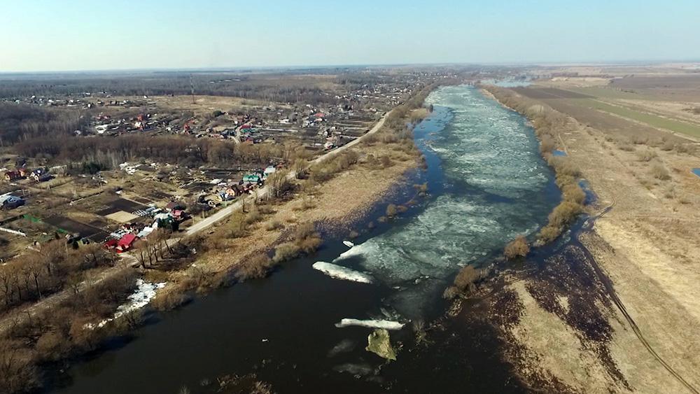 Паводковый разлив реки